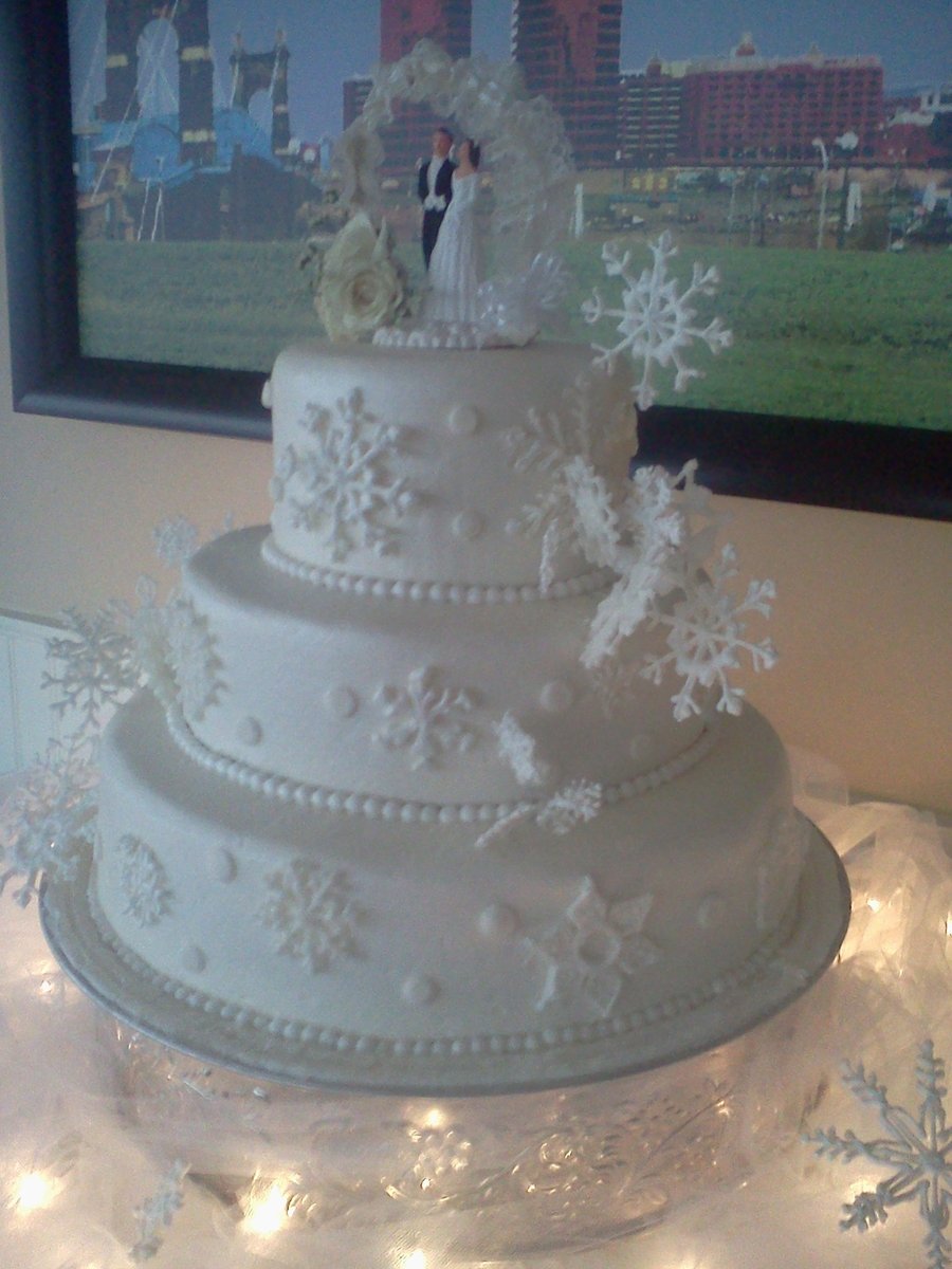 Snow Flake Wedding Cake on Cake Central