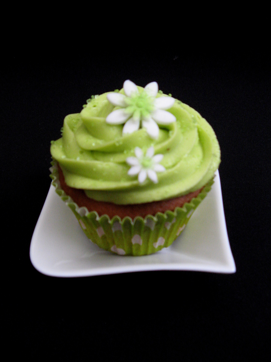 A Simple Electric Green Cupcake  on Cake Central
