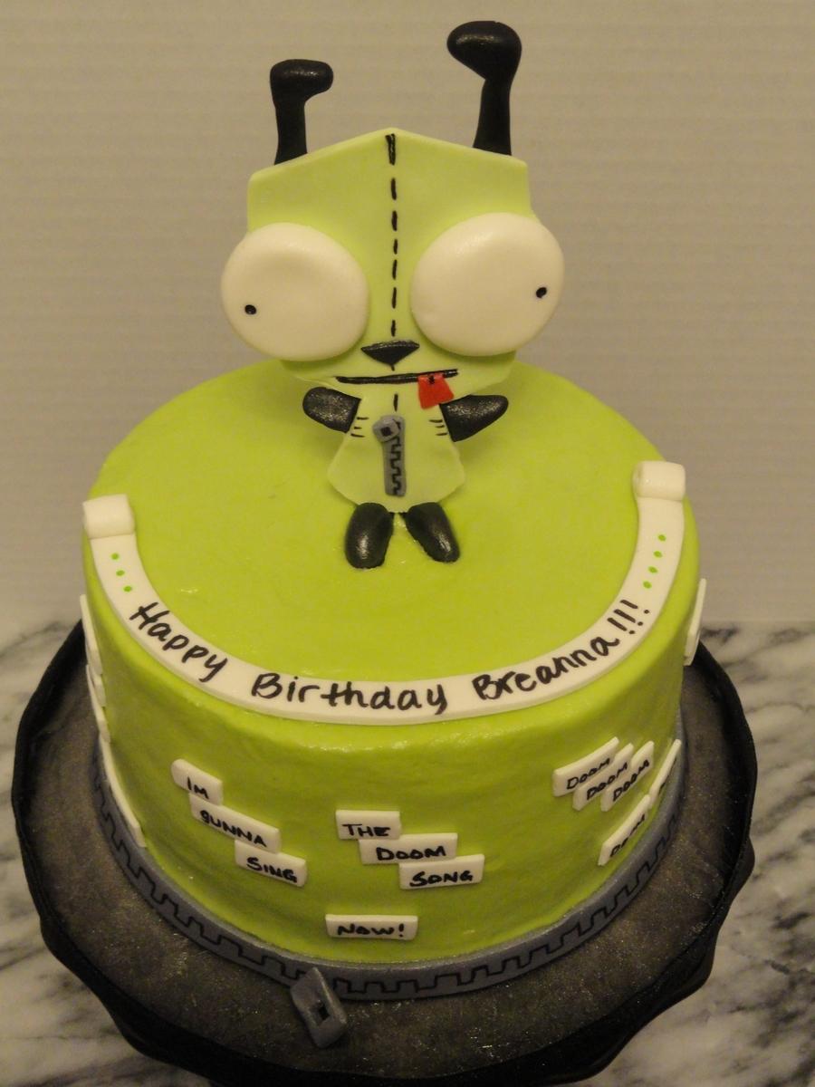 Gir Cake From Invader Zim Cartoon Cakecentral Com