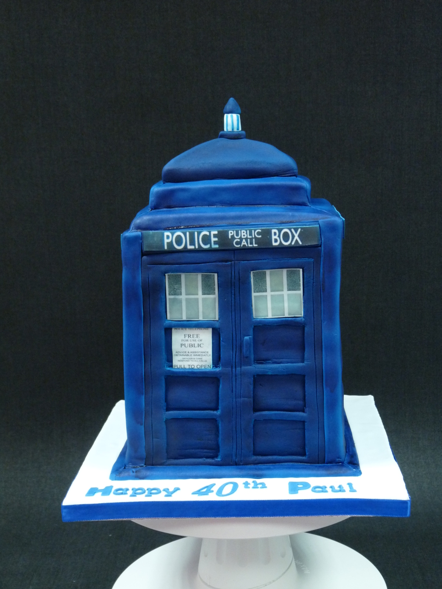 Dr Who Tardis Cake on Cake Central