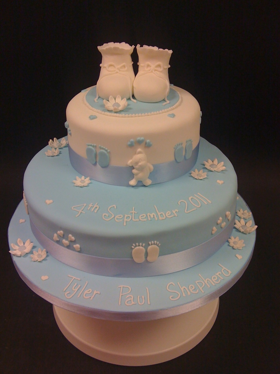 Childs Christening Cake on Cake Central