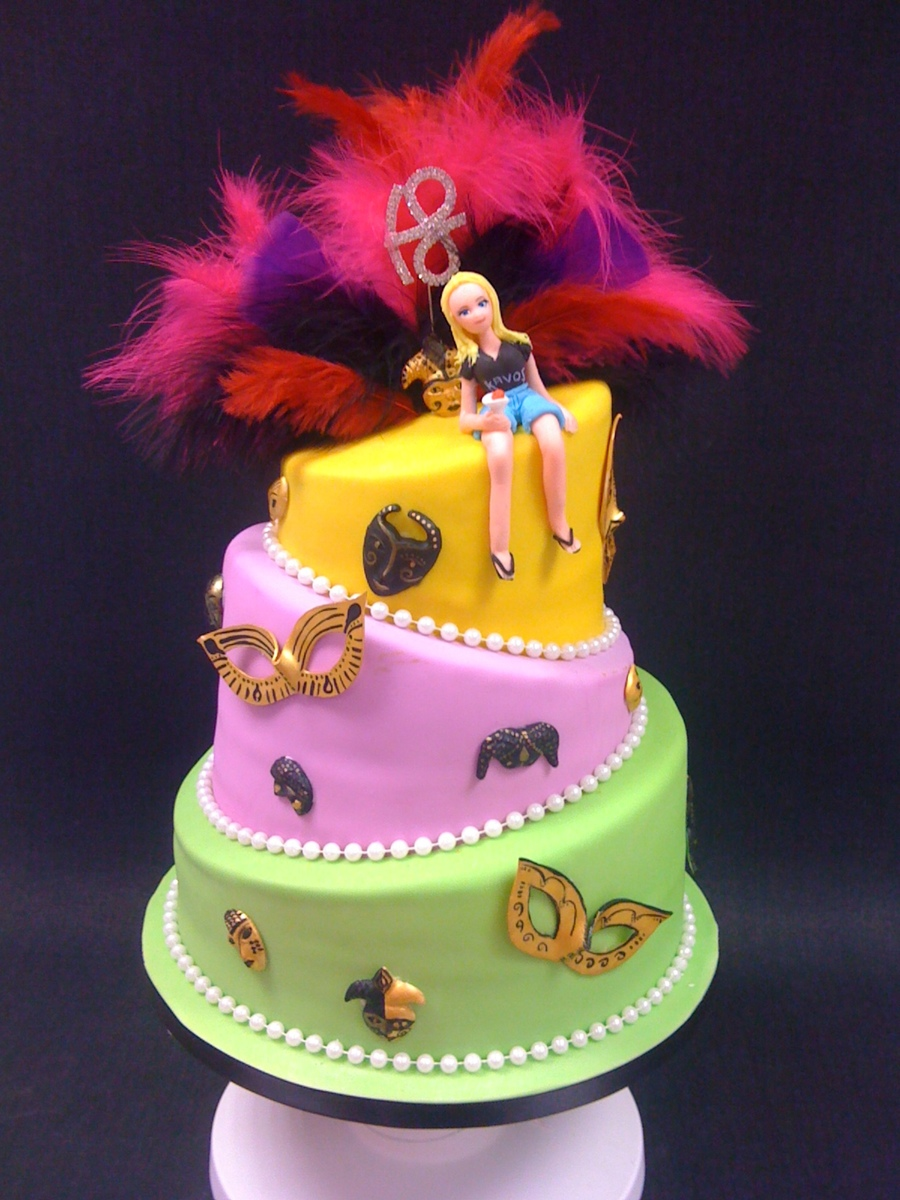 Carnival Topsy Turvy on Cake Central