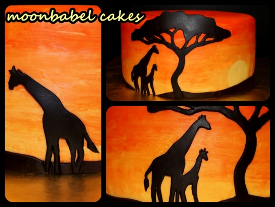 African Sunset on Cake Central