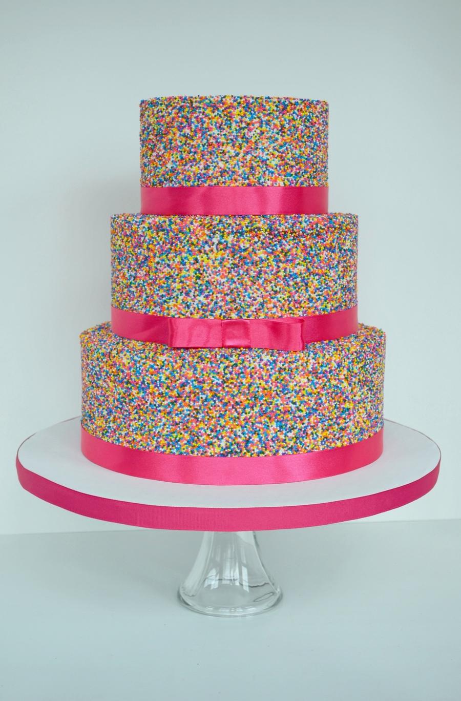 Pink Sprinkle Cake - CakeCentral.com