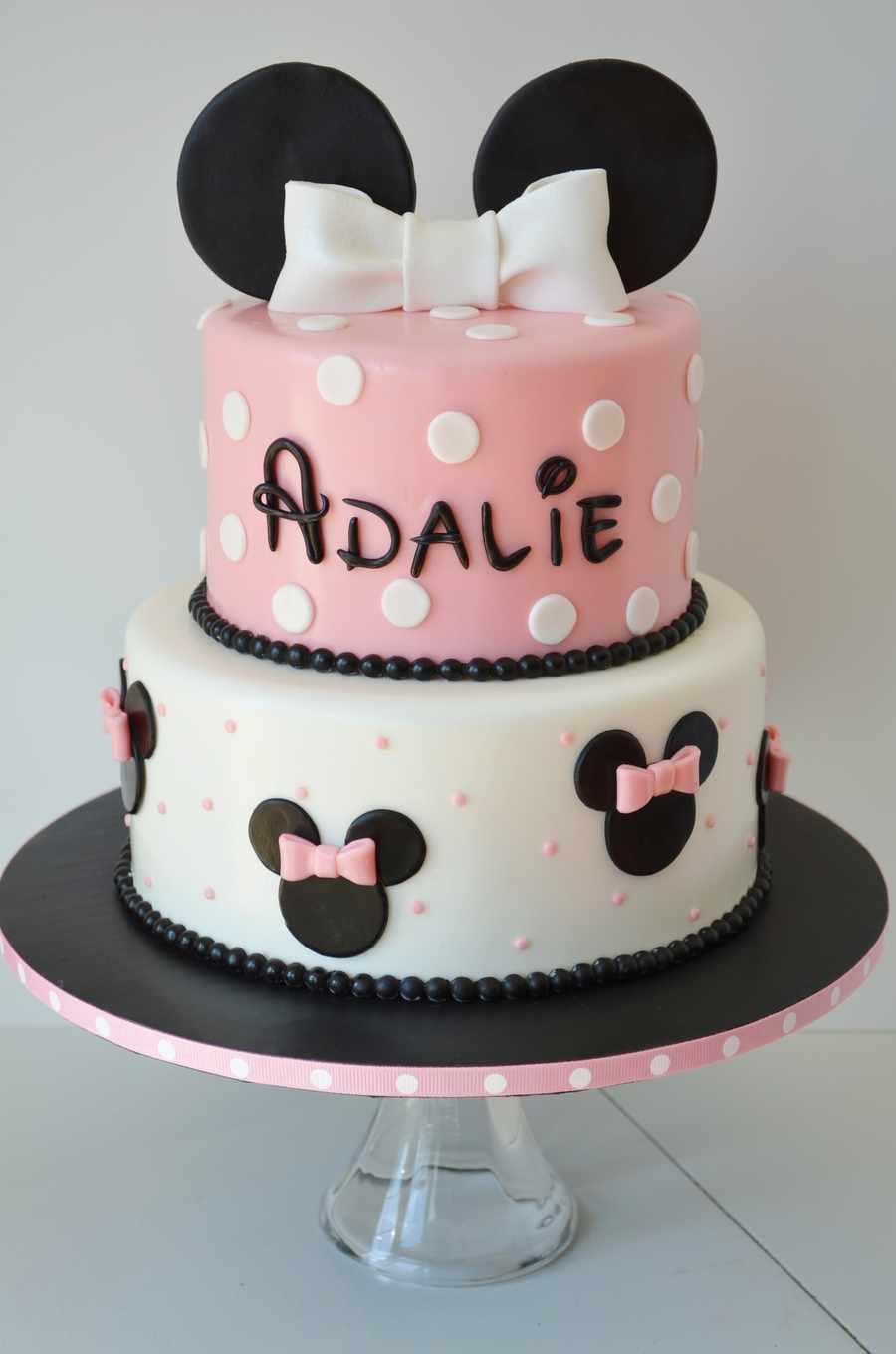 minnie mouse cake template free - minnie birthday cake and cake pops