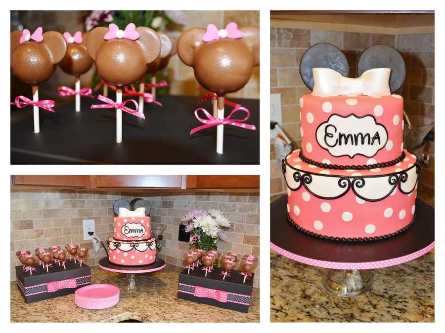 Pink Minnie Mouse Cake And Cake Pops on Cake Central