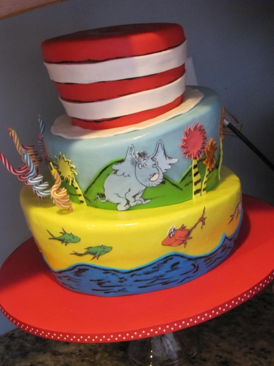 Brilliant Dr Seuss Birthday Cake Cakecentral Com Funny Birthday Cards Online Alyptdamsfinfo