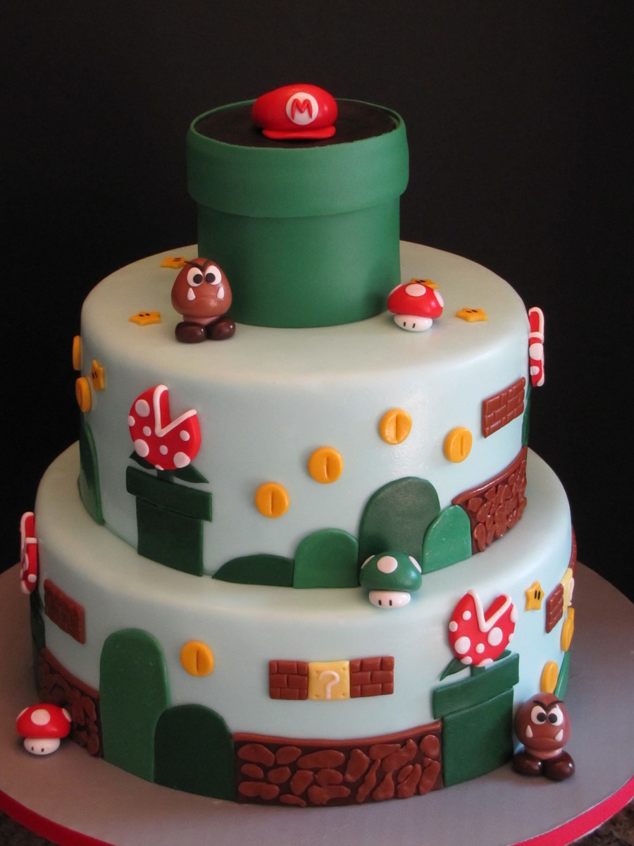 Super Mario Brothers Birthday Cake Cakecentral