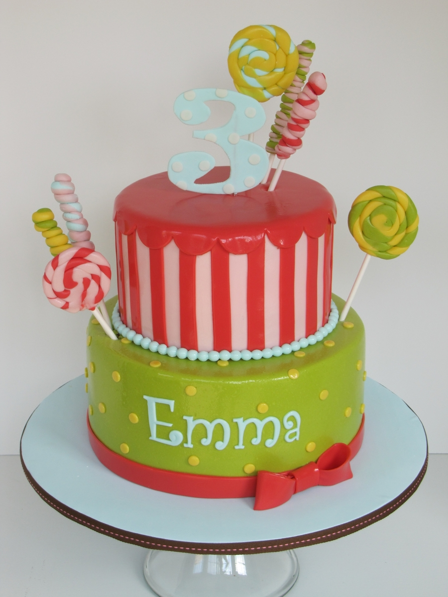 Candy Themed Birthday Cake on Cake Central