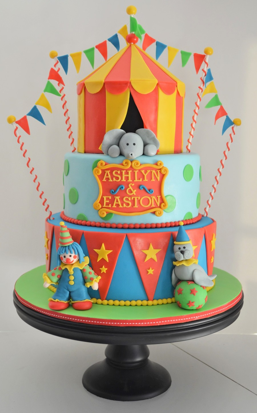 Circus Birthday Cake On Central