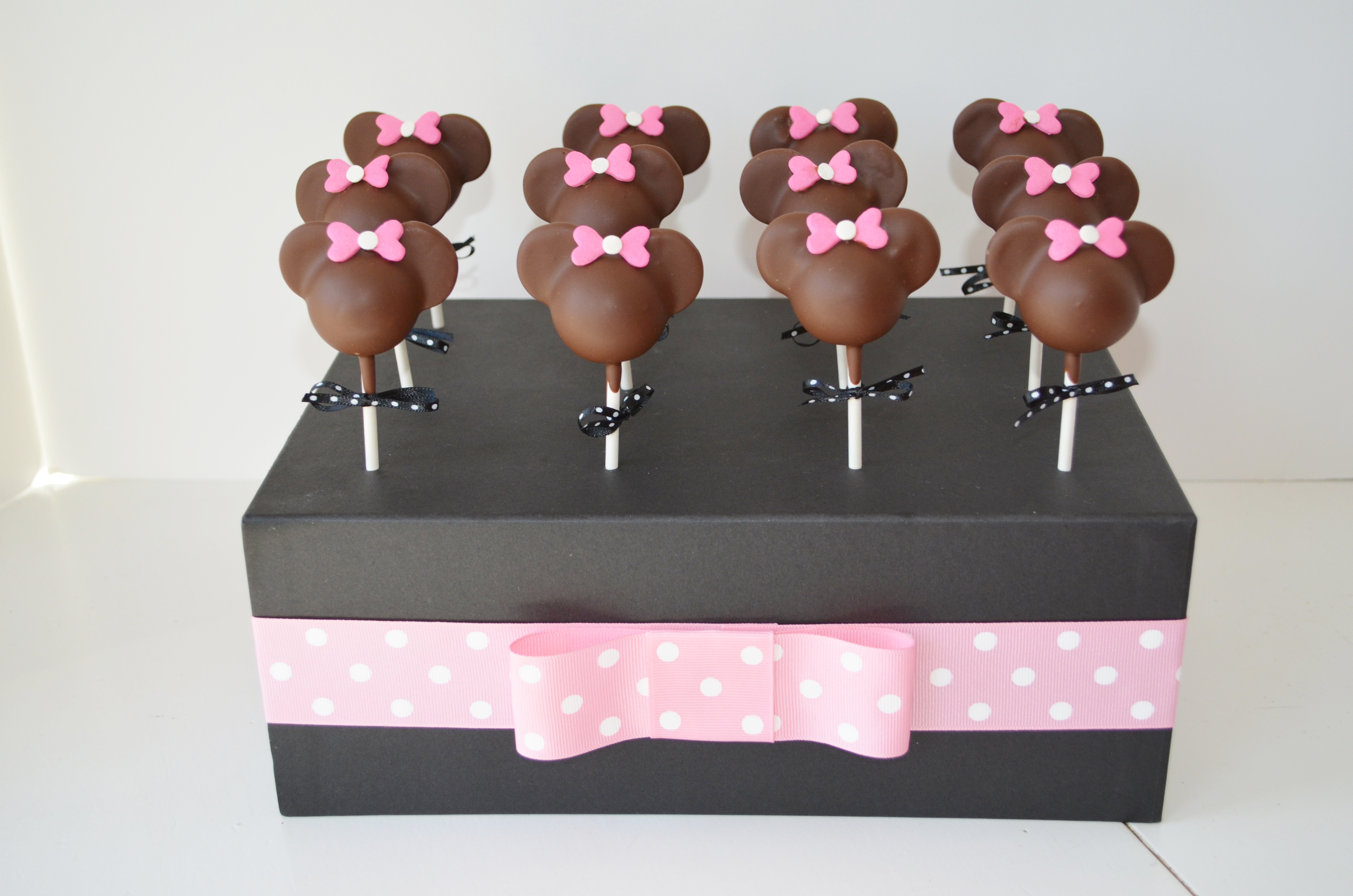 How To Decorate Minnie Mouse Cake Pops
