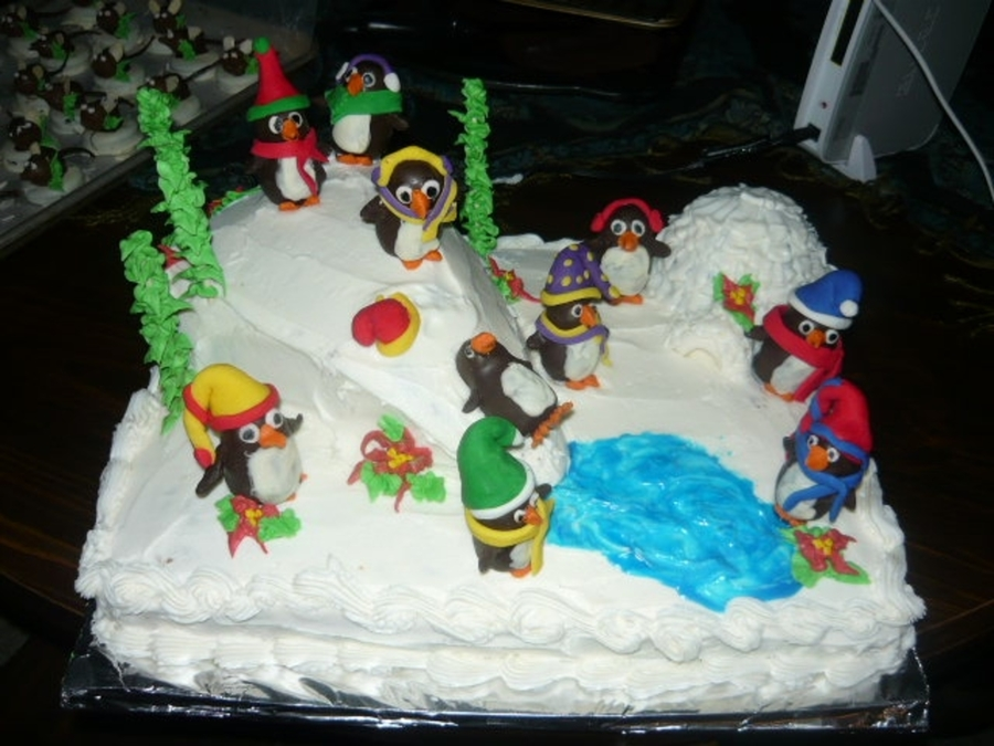 Penquins Christmas on Cake Central