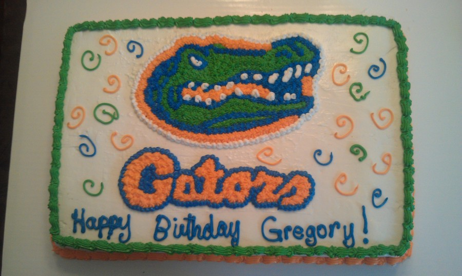 Wondrous Florida Gators Birthday Cake Cakecentral Com Funny Birthday Cards Online Elaedamsfinfo