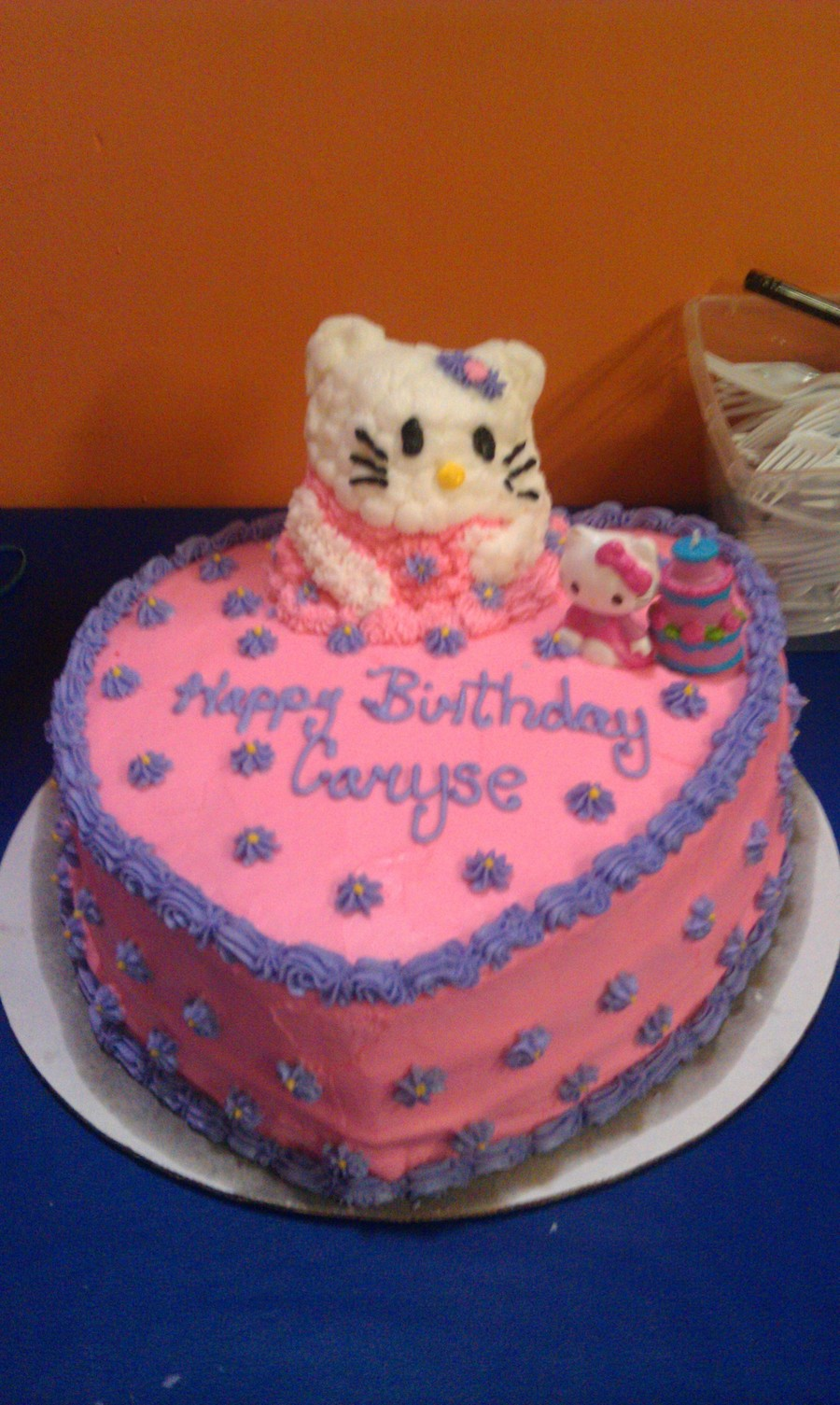 Cake Hello Kitty Pink : Hello Kitty Pink Heart Birthday Cake - CakeCentral.com