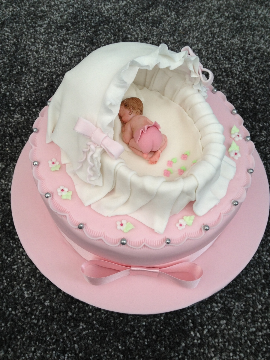 Its A Girl Baby Shower Cake on Cake Central