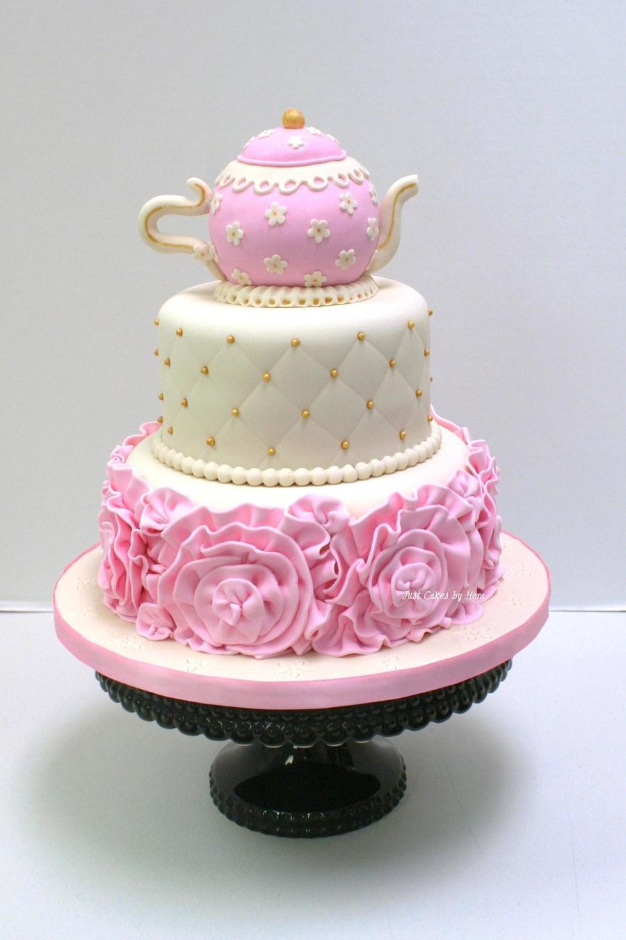 Tea Party Cake Cakecentral Com