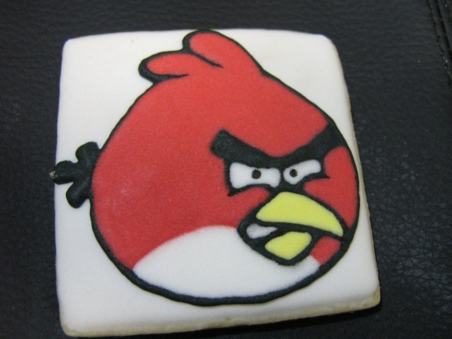 Angry Bird Cookie  on Cake Central