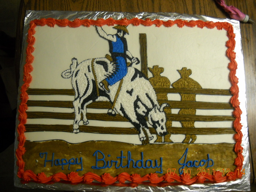 Bull Riding on Cake Central