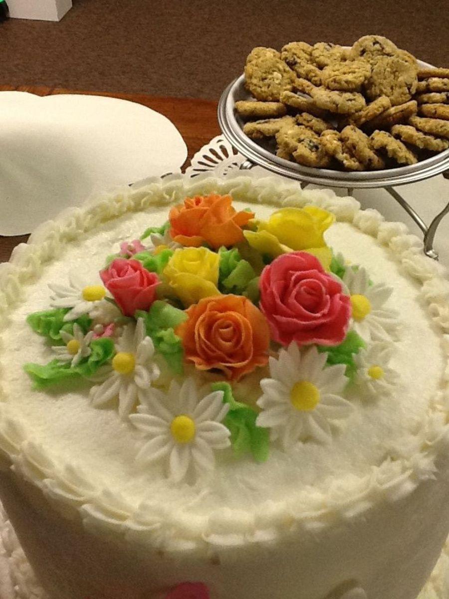 Lemon Almond Sour Cream Cake Recipe