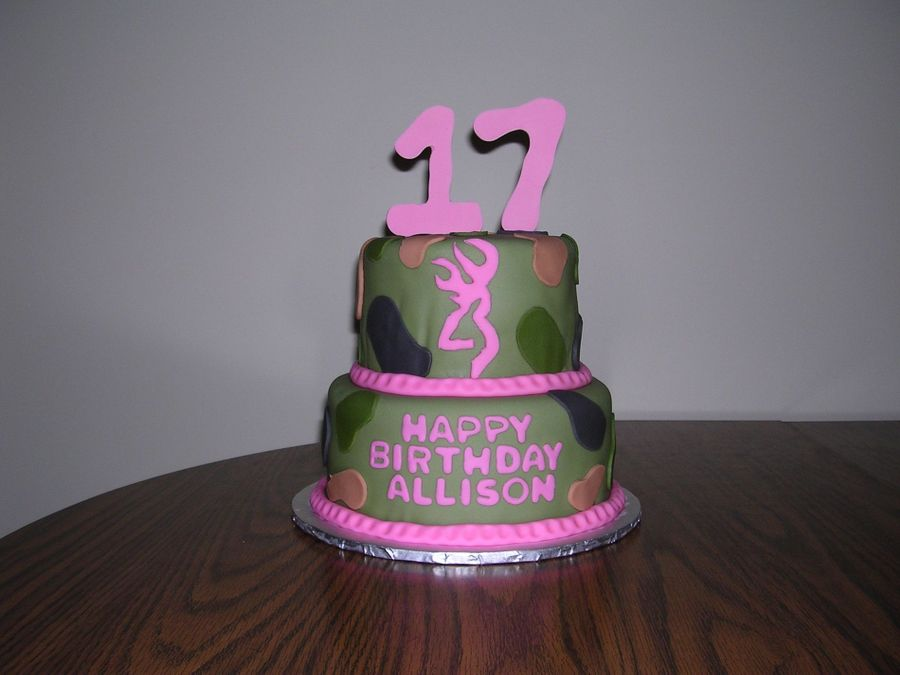 Camo Birthday Cake  on Cake Central