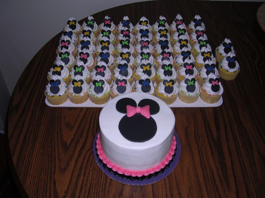 Minnie Mouse Cupcakes And Cake on Cake Central