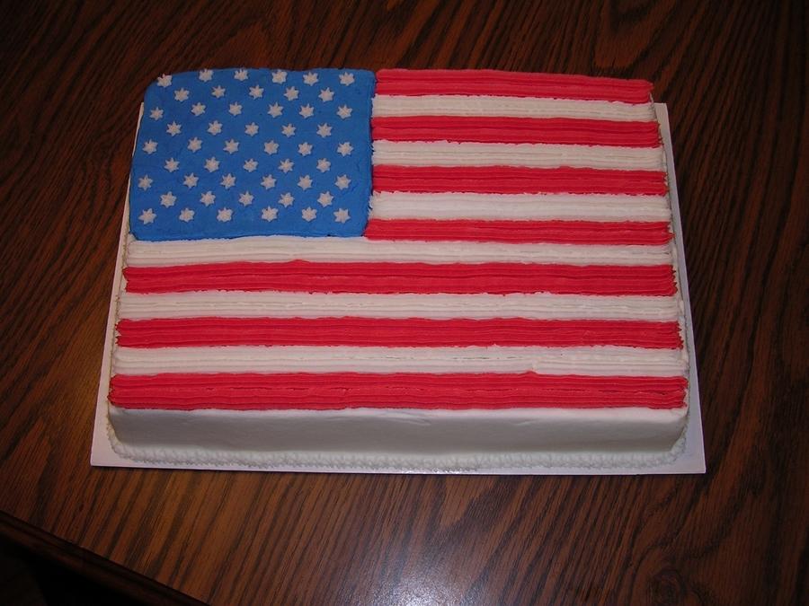 American Flag Birthday Cake Cakecentral Com