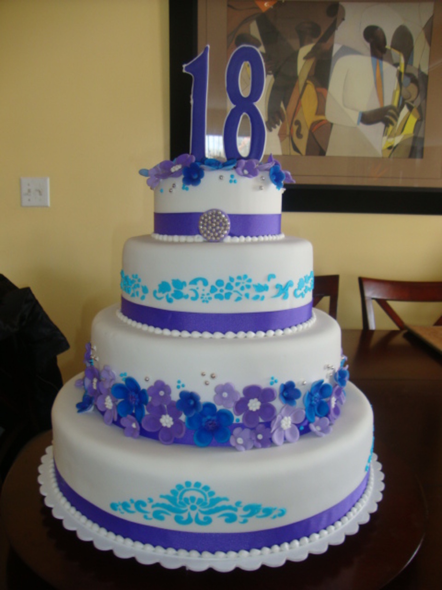 Blue & Purple on Cake Central