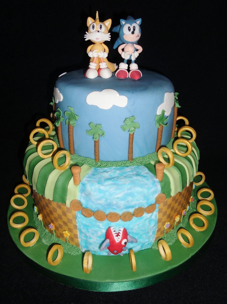Sonic The Hedgehog Green Hill Zone Cake Cakecentral Com