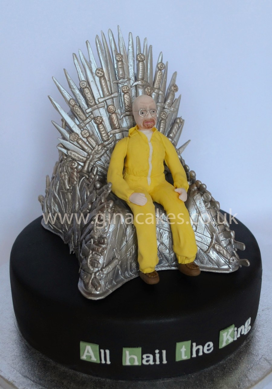 Game of thrones chair cake - Breaking Bad Walter White Iron Throne Game Of Thrones Cake Cakecentral Com