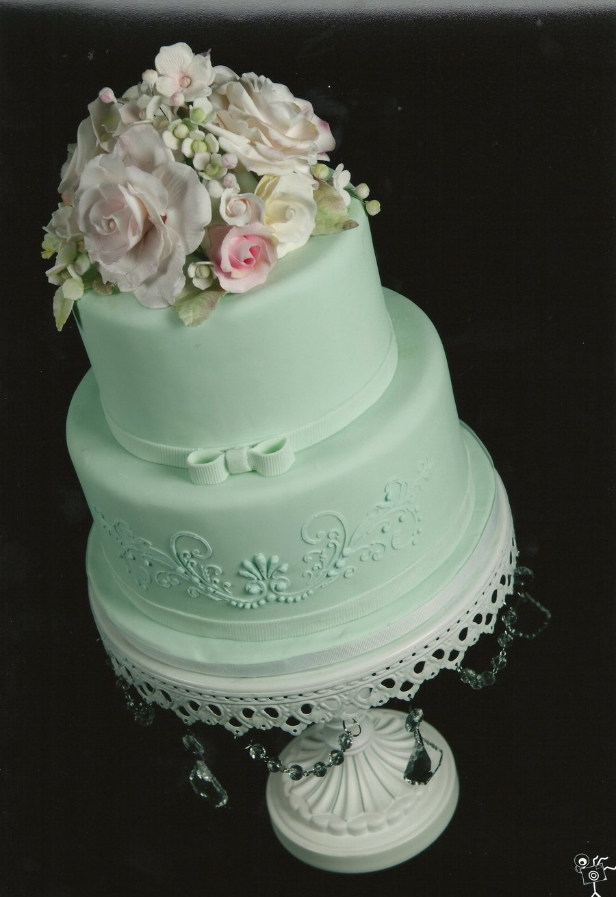 Seafoam Green Wedding Cake