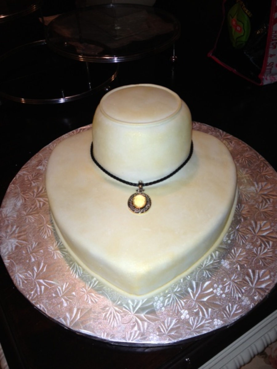Display Cake For A Park Lane Jewerly Themed Birthday Party. on Cake Central