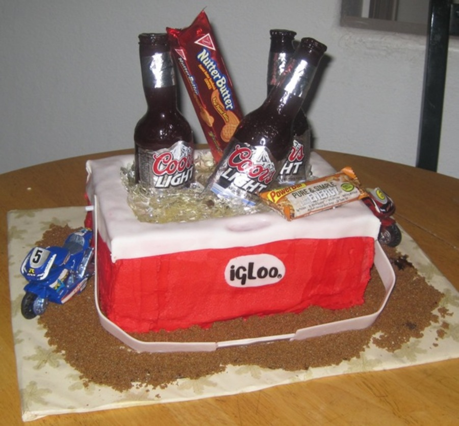 Ice Chest At The Moto X Cake Cakecentral