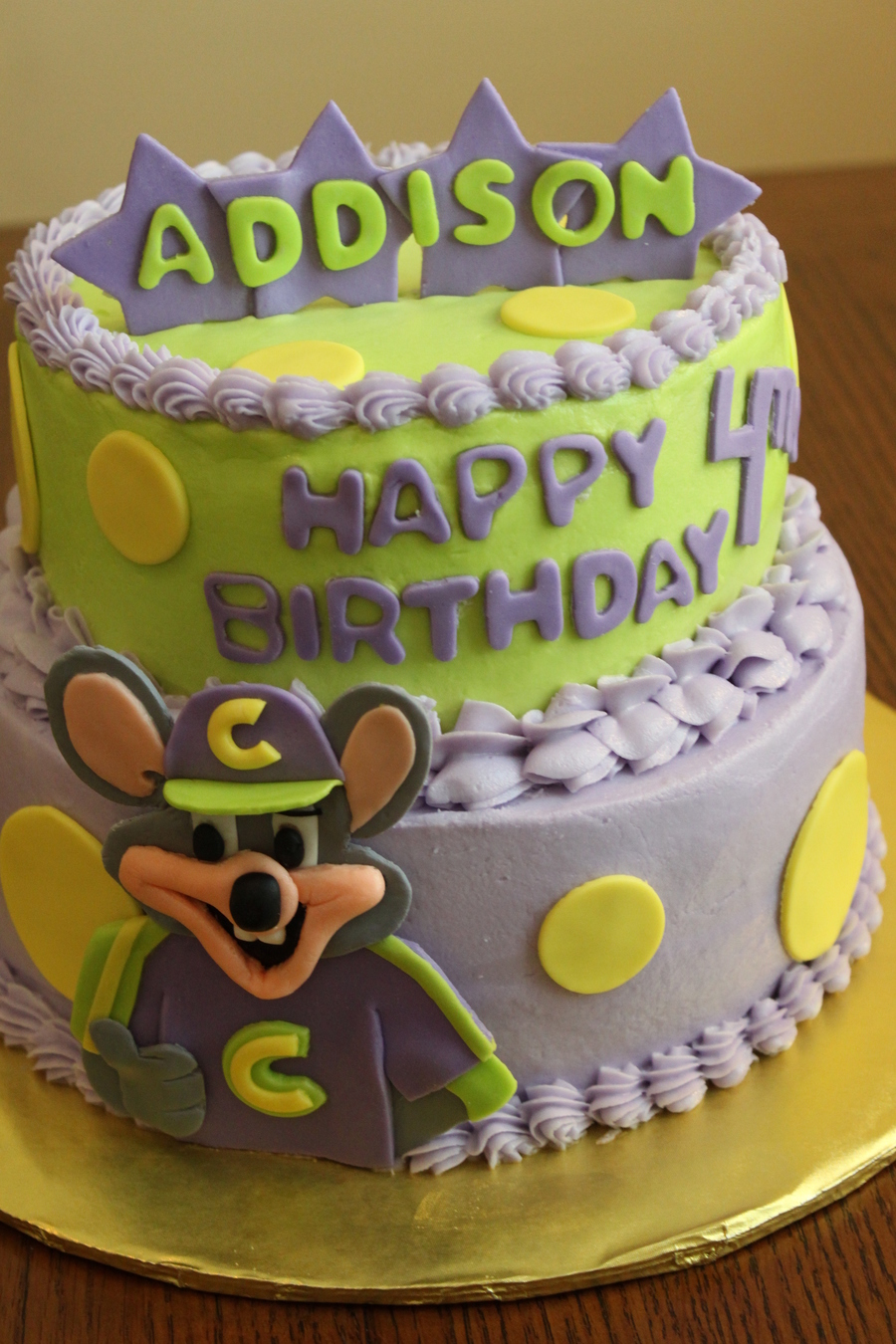 Chuck E Cheese Birthday Cake CakeCentralcom