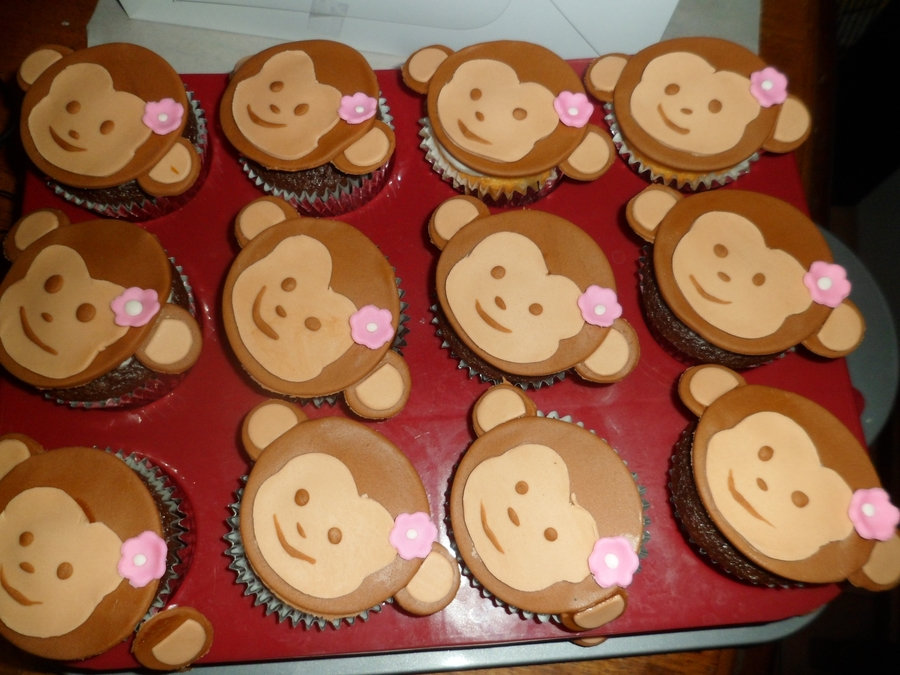Monkey Cupcakes! on Cake Central