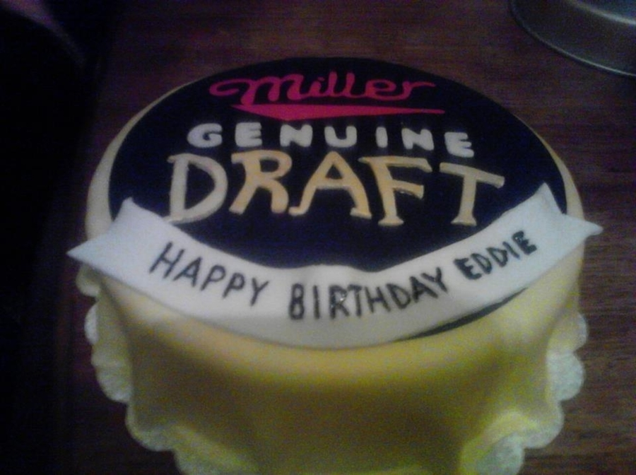 Beer Cap on Cake Central