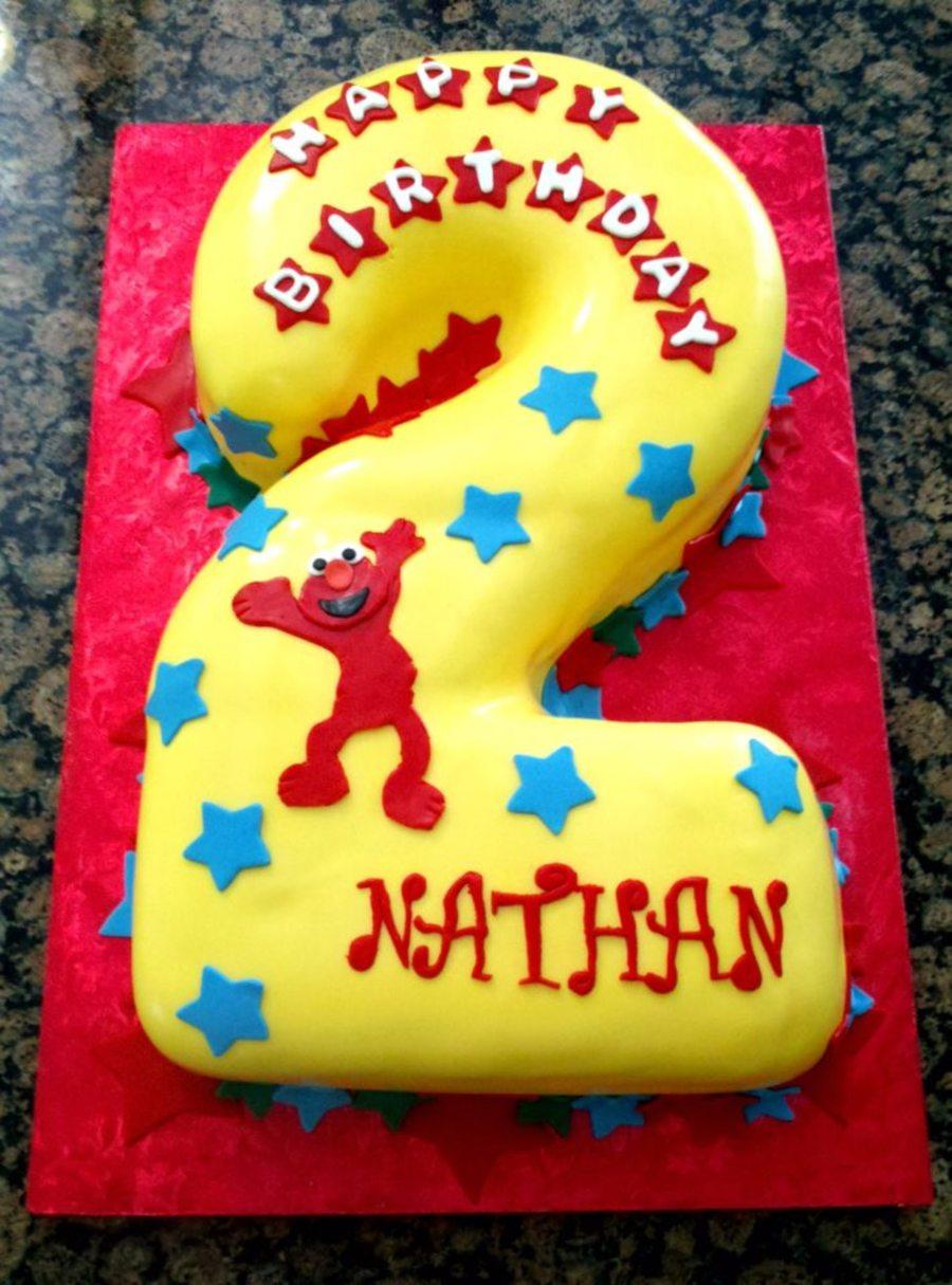 Carved Elmo 2Nd Birthday Cake CakeCentralcom