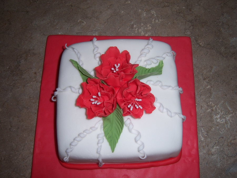 Fantasy Flower Cake on Cake Central
