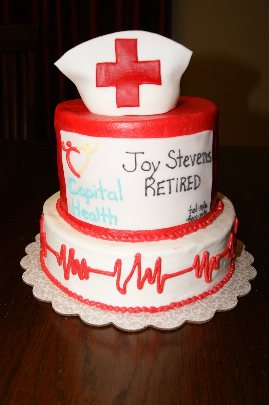 Nurse Hr Professional Retirement Cake Cakecentral Com