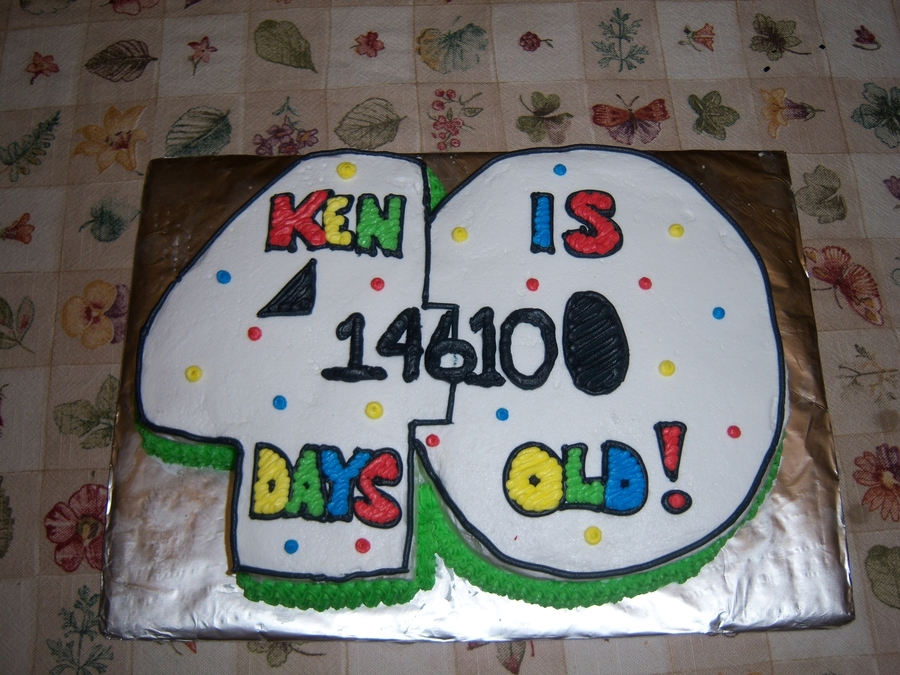40Th Birthday Cake on Cake Central