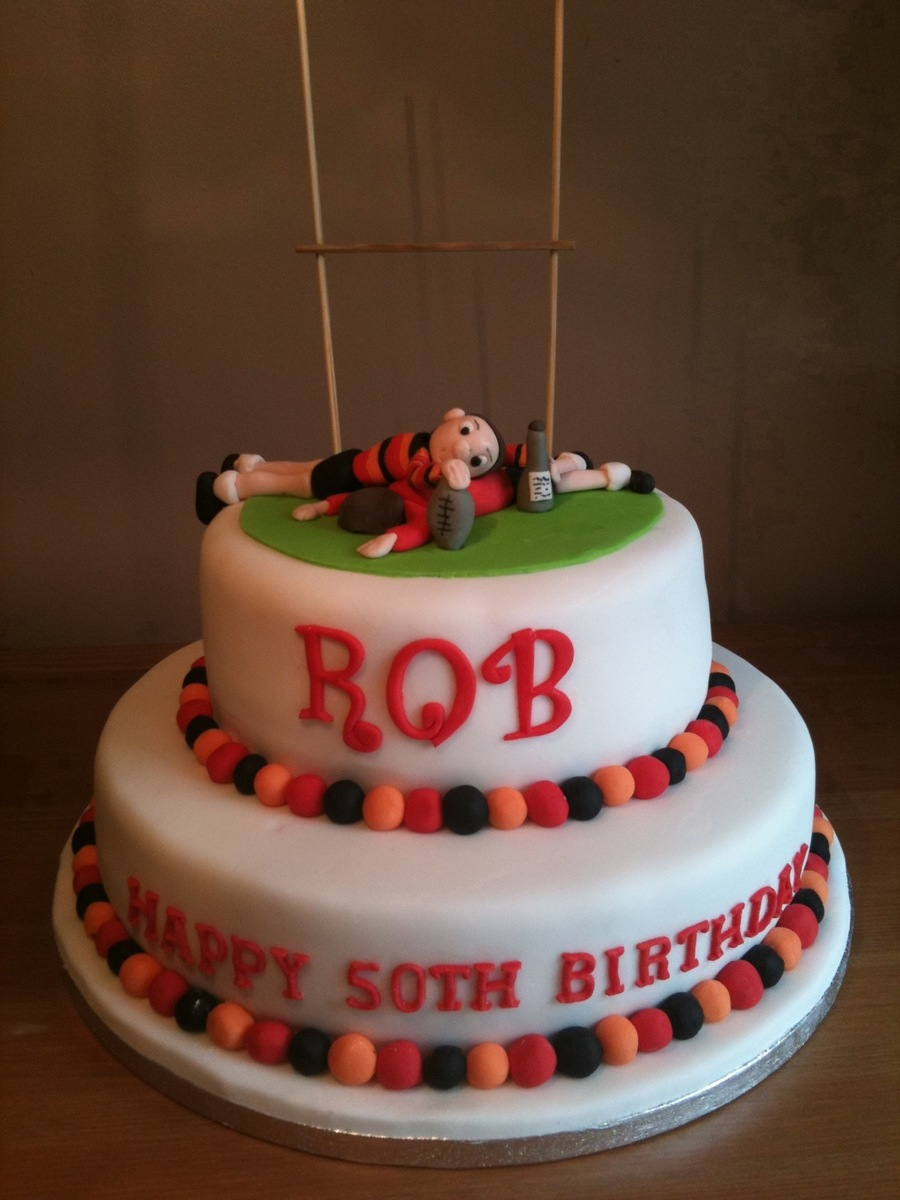 Rugby Cake on Cake Central