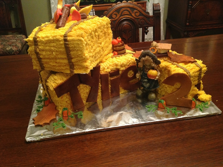 Fall Hay Bale Cake on Cake Central