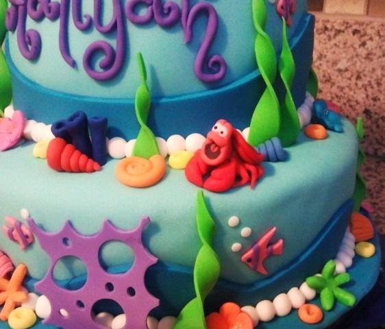 Little Mermaid Cake CakeCentralcom