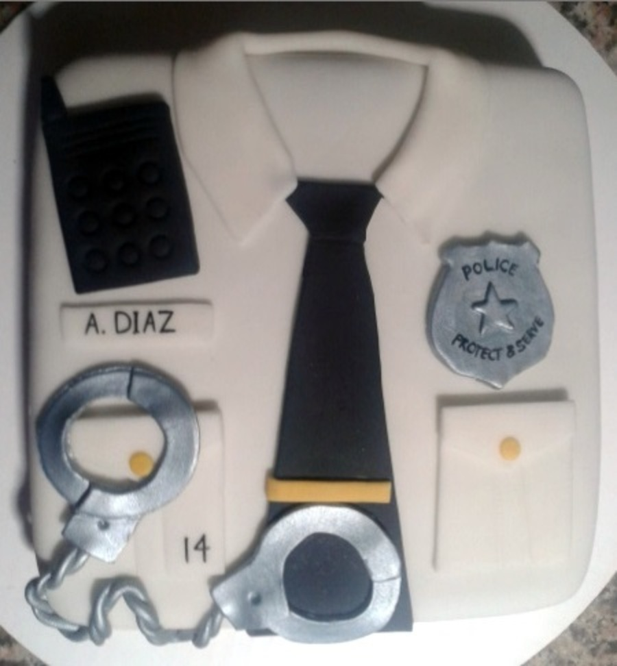 Police Officer Shirt Cake Cakecentral Com