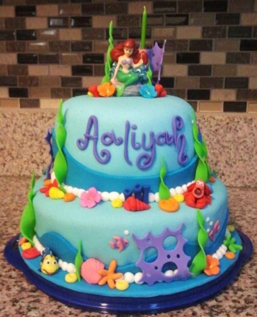 Little Mermaid Cakes Decorations