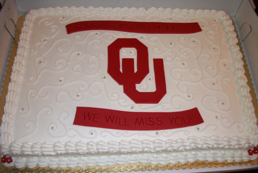 Ou Retirement Cake on Cake Central