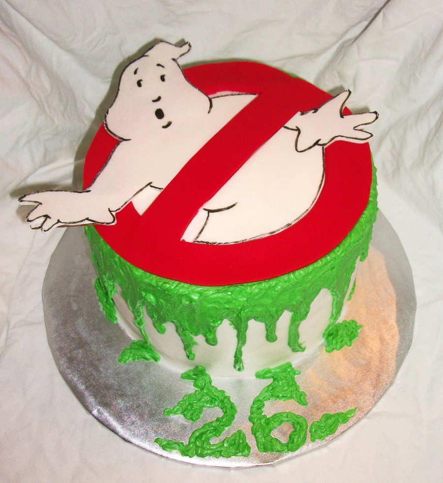 Astonishing Ghostbusters Birthday Cake Cakecentral Com Funny Birthday Cards Online Alyptdamsfinfo