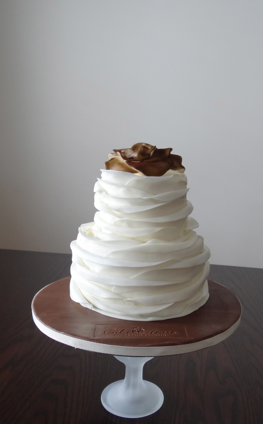 Soft Ivory Ruffles on Cake Central