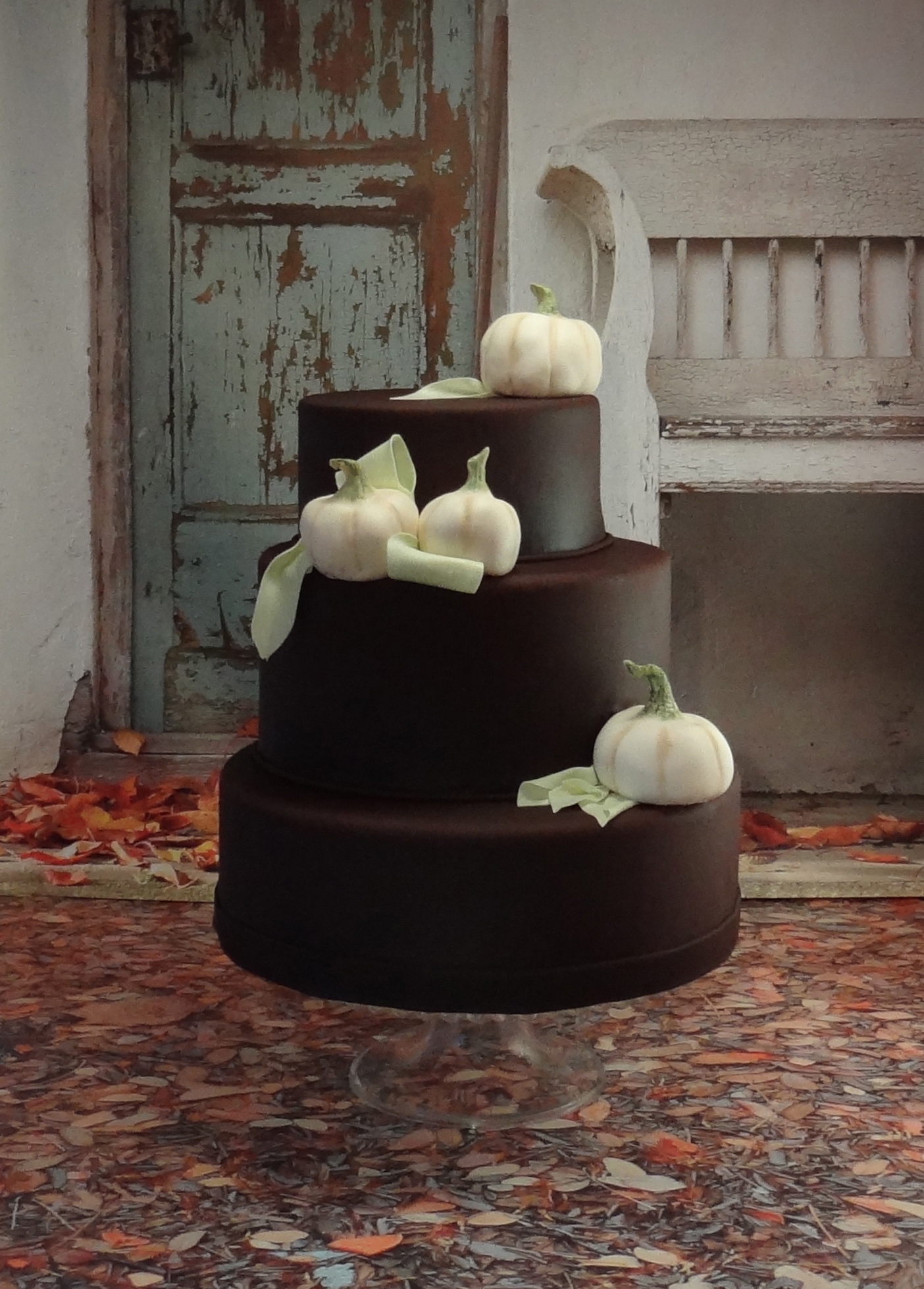 White Pumpkins With Corn Husks on Cake Central