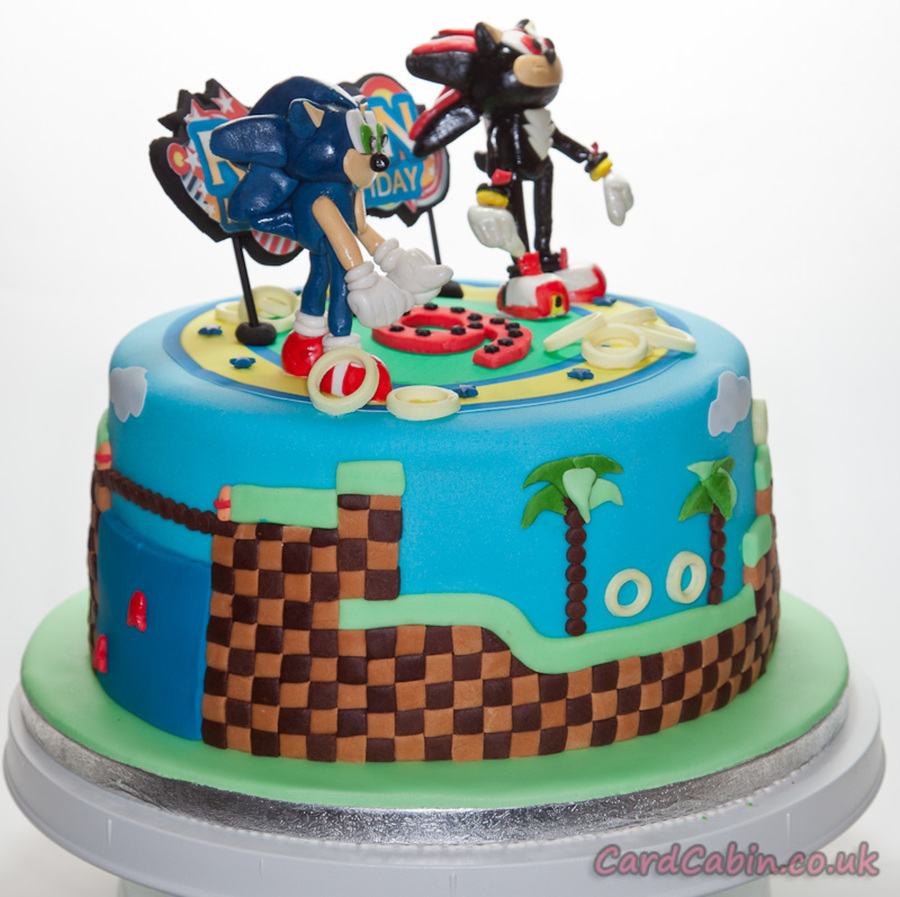 Sonic Amp Shadow Childrens Cake Cakecentral Com
