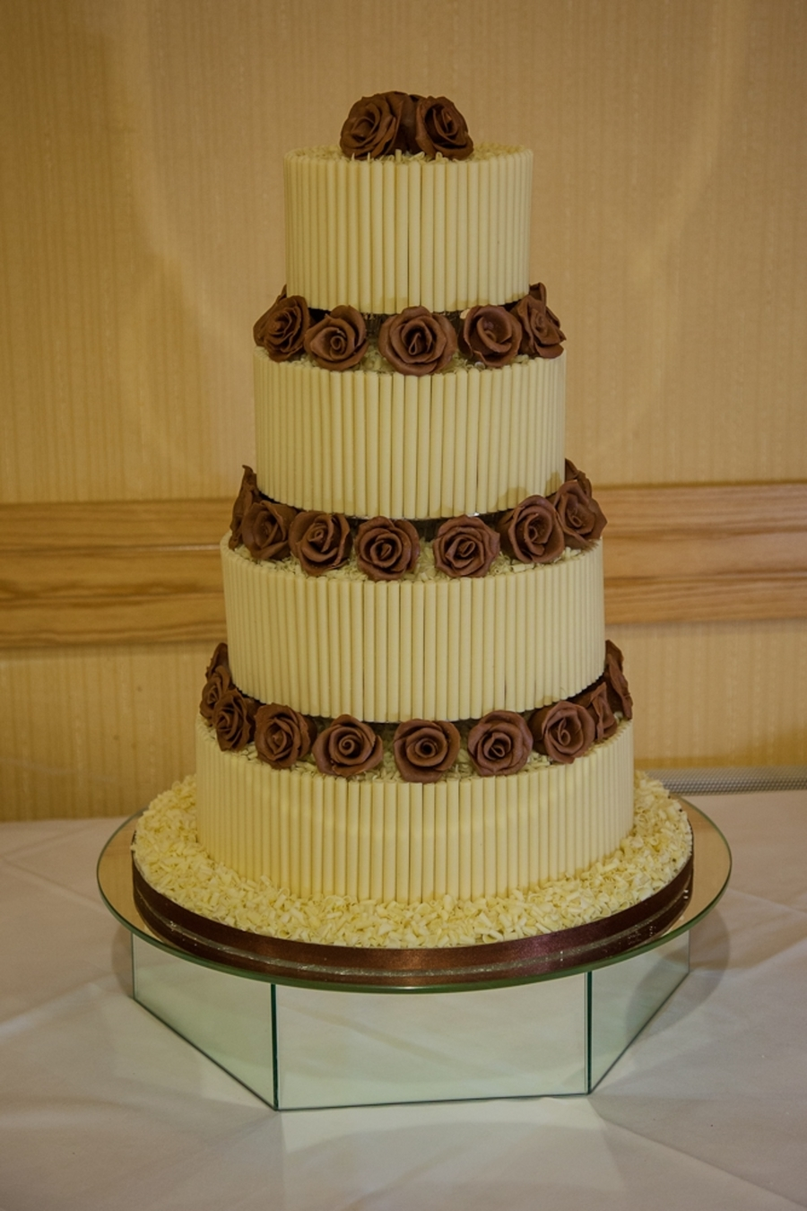 4 tier chocolate wedding cake recipe 4 tier chocolate wedding cake cakecentral 10372